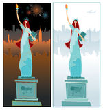 The Statue of Liberty. Day night. To see similar, please VISIT MY PORTFOLIO Royalty Free Stock Images
