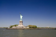 Statue of liberty. Panoramic view of the Statue of liberty Stock Photography