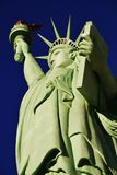 Low Angle View Of Statue Of Liberty Against Sky,America. The Statue of Liberty is a colossal copper statue designed by Auguste Bartholdi a French sculptor was stock photos
