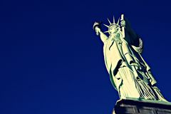 Low Angle View Of Statue Of Liberty Against Sky,America Stock Photography