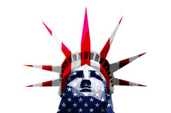 Statue of Liberty, america flag Royalty Free Stock Image