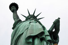 Statue of Liberty at an angle Stock Images