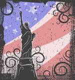 Statue of Liberty background Royalty Free Stock Images
