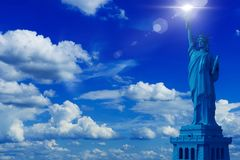 Statue of Liberty Background Stock Image