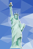 Statue of Liberty with the background of polygonal Stock Photography