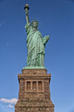 Statue of Liberty. With base shot from below Stock Photo