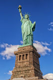 Statue of Liberty. With base shot from below Stock Image