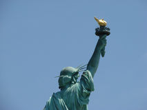 Statue of Liberty. From behind in New York Royalty Free Stock Images