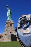 Statue of Liberty and binoculars Stock Image
