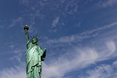 Statue of LIberty on Blue Sky Stock Image
