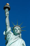 Statue of Liberty, blue sky in a sunny day Stock Image