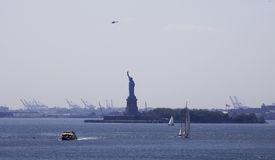 Statue of Liberty from Brooklyn. The Statue of Liberty as shot from the Brooklyn Promenade on Memorial Day 2008 royalty free stock photos