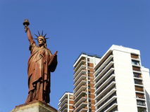 Statue of Liberty in Buenos Aires. Statue of Liberty at Barrancas de Belgrano Square, Buenos Aires, Argentina. A sculpture that is an exact scale replica of the Stock Photos