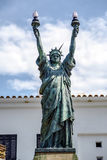 Statue of liberty in Cadaques, Spain Stock Image