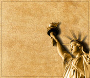 Statue of Liberty card Stock Photos