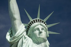 Statue of Liberty Close-Up Blue Sky Horizontal Royalty Free Stock Images