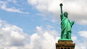 Statue of Liberty with clouds stock video footage