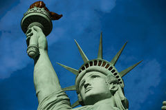 The Statue of Liberty. Is a colossal copper statue designed by Auguste Bartholdi a French sculptor was built by Gustave Eiffel royalty free stock photo