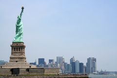 Statue of liberty with copy space Stock Photos