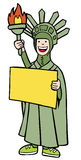 Statue of Liberty Costume Royalty Free Stock Photo