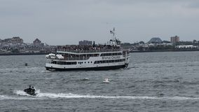 Statue of Liberty Cruise boat full to capacity Stock Images