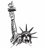 Statue of Liberty drawing Stock Photo