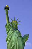 Statue of Liberty at dusk frontal view Royalty Free Stock Images
