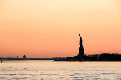 Statue of Liberty - Dusk View. Dusk view of the Statue of Liberty Stock Photo
