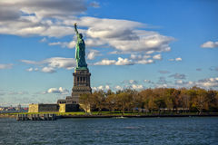 Statue of Liberty. With entire island Royalty Free Stock Photo