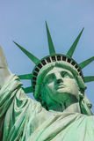 Statue of Liberty face Stock Images