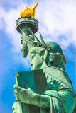 Statue of Liberty face Stock Image