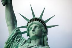 Statue of Liberty - Face and Crown Stock Photo