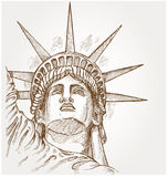 Statue of liberty face Royalty Free Stock Photos