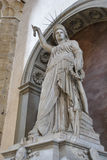 Statue of Liberty by Fedi in Basilica Santa Croce, Florence Stock Photo