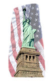 STATUE OF LIBERTY FLAG Stock Images
