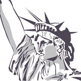 Statue of liberty fragment stock illustration