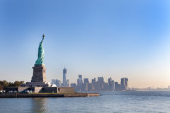 The Statue of Liberty and New York City Stock Images