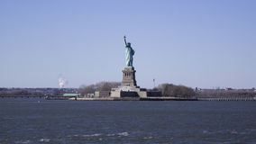 Statue of Liberty. Front of the statue of liberty from the Staten Island ferry Stock Photography