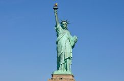 Statue of Liberty, full front view Stock Image