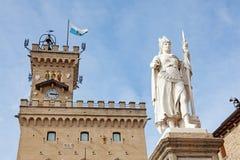 Statue of Liberty by Galletti at Liberty Square, San Marino, Ita Royalty Free Stock Image