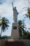 Statue of Liberty,Guam, Hagatca,Agana. This replica of the Statue of Liberty stands in the Paseo de Susana at the entrance of Hagåtña harbor and visible stock photos
