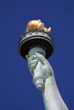 Statue of liberty hand. On sky background Royalty Free Stock Images