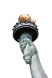 Statue of liberty hand isolated. On white background Stock Image