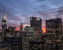 New York City at sunset Royalty Free Stock Photography