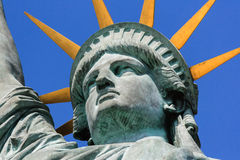 Statue of Liberty head. Detail of head of the replica of the Statue of Liberty in Paris, France Royalty Free Stock Image