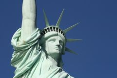 Statue of Liberty Head and Shoulders Stock Photo