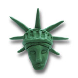 Statue of Liberty. Head of Statue of Liberty on white background, for 4 July American Independence Day and other events. Vector illustration. Plasticine modeling Stock Photos