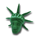 Statue of Liberty. Head of Statue of Liberty on white background, for 4 July American Independence Day and other events. Vector illustration. Plasticine modeling Royalty Free Stock Image
