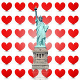 Statue of Liberty Hearts Royalty Free Stock Photography
