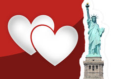 Statue of Liberty Hearts Royalty Free Stock Images